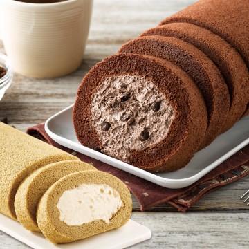 巧克力蛋糕,巧克力卷,雪藏蛋糕